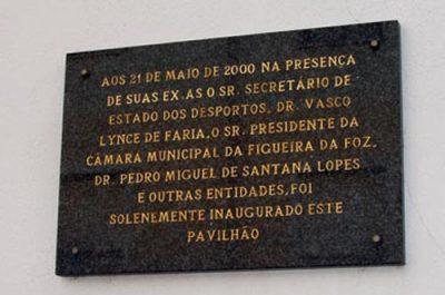 Placa Comemorativa Inauguração Pavilhão Gimnodesportivo